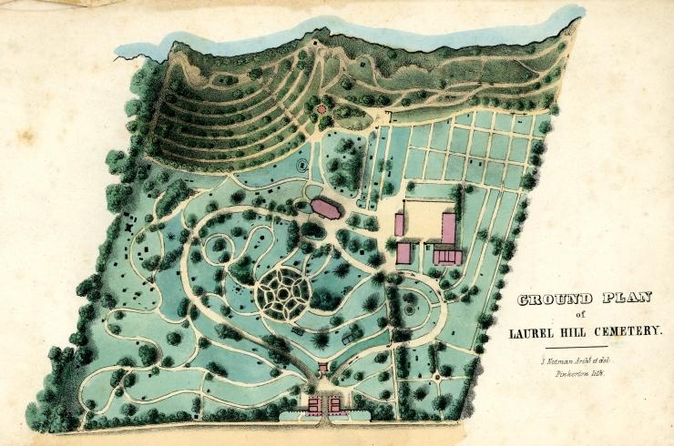 Notman's North Laurel Hill Ground Plan