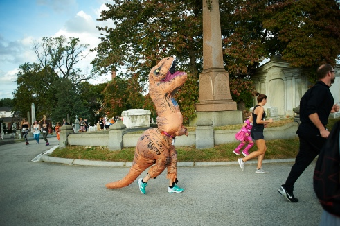 Organized by The Friends of Laurel Hill Cemetery, the Rest in Peace 5K Run is the only Halloween costume run and after-party in a Cemetery at night in the region. Proceeds benefit the Friends of Laurel Hill Cemetery, a nonprofit dedicated to the preservation of historic Laurel Hill Cemetery. Unique and challenging, the run winds through the headstones in Laurel Hill Cemetery, a beautiful National Historic Landmark, located in the East Falls neighborhood. Participants and spectators alike are encouraged to attend in Halloween attire. Directly following the run, prizes are awarded for the best costume as well as to the winners of the run at an after-party that features food, free beer, and great music. Now in its ninth year, the run attracts hundreds of regional runners and spectators. In addition to being a good time, the Race is also a very community minded event, connecting runners, local businesses and organizations together through fellowship, fitness and fun! October 7, 2017